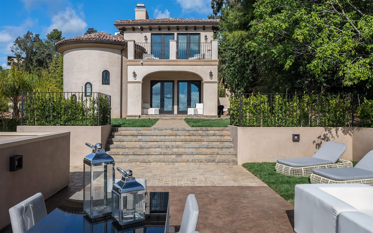 Luxury real estate Majestic gated Hollywood Hills compound