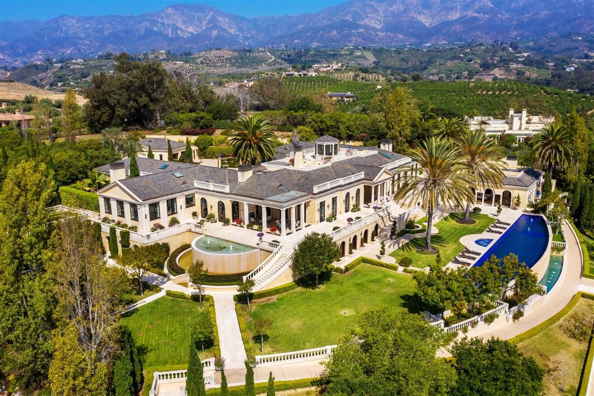 Luxury homes European-style polo estate atop a bluff