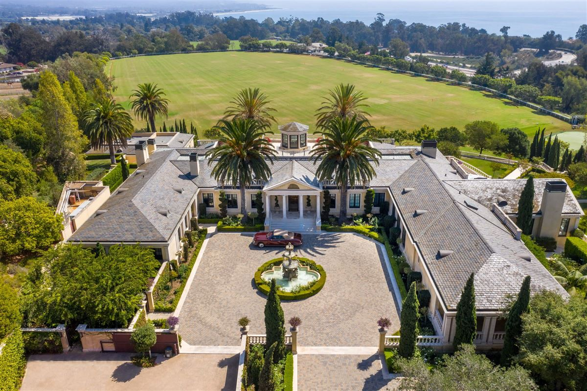 European-style polo estate atop a bluff luxury homes