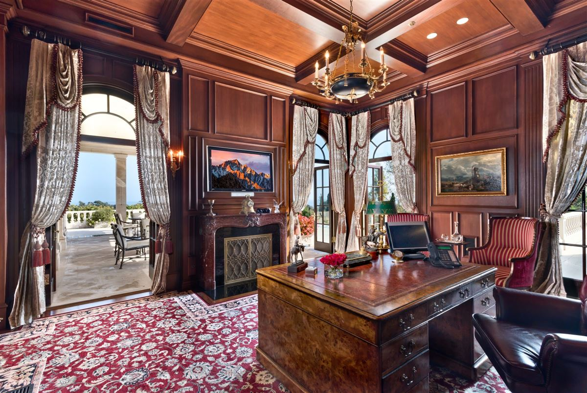 Luxury real estate European-style polo estate atop a bluff