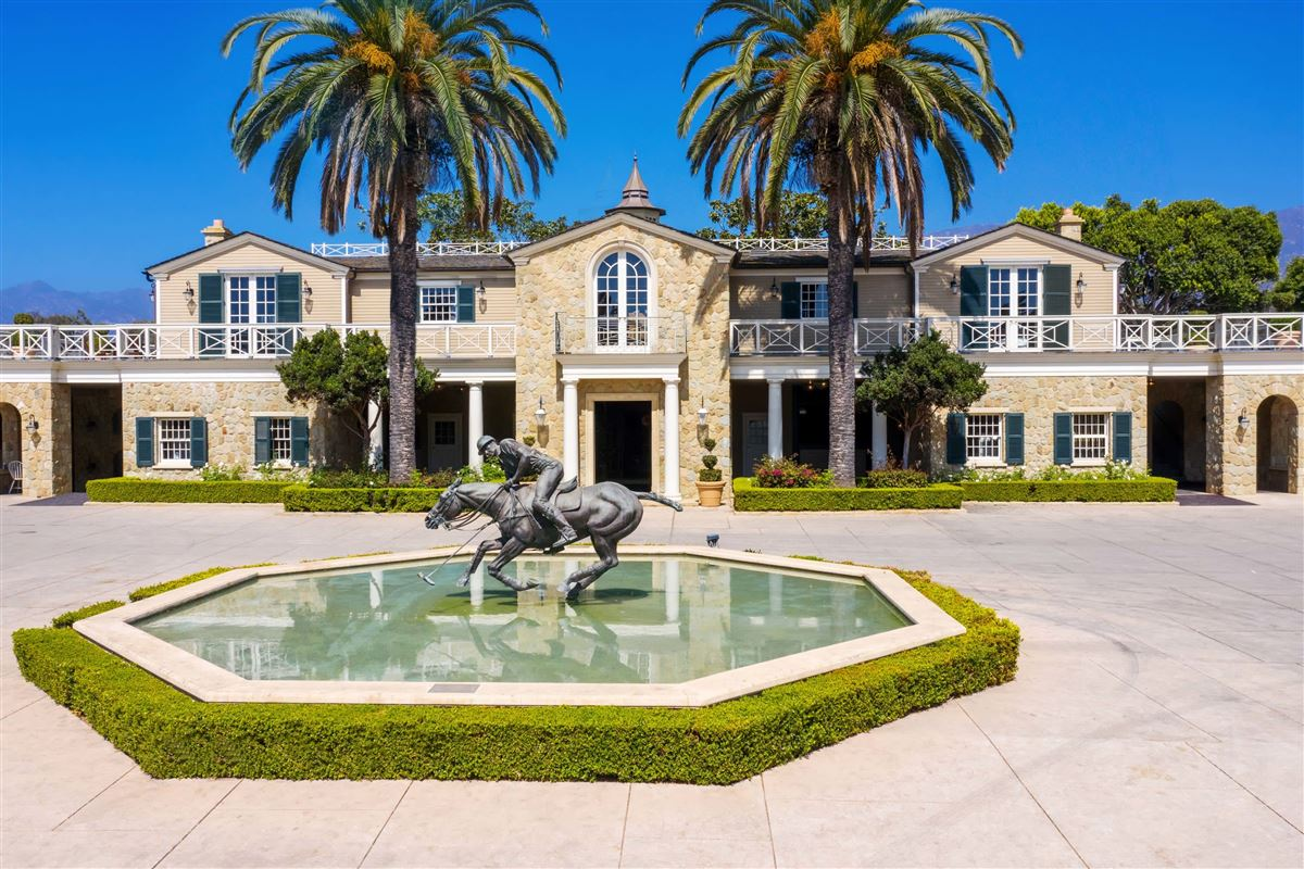Mansions European-style polo estate atop a bluff