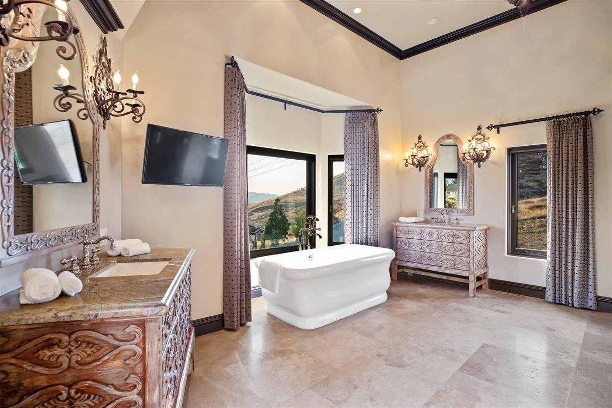 Custom gated Mediterranean compound luxury real estate