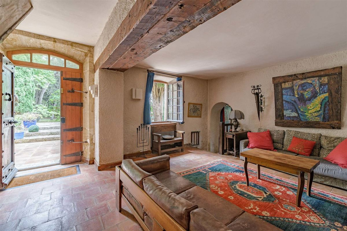 peaceful period property with open Alpilles mountain range views luxury real estate