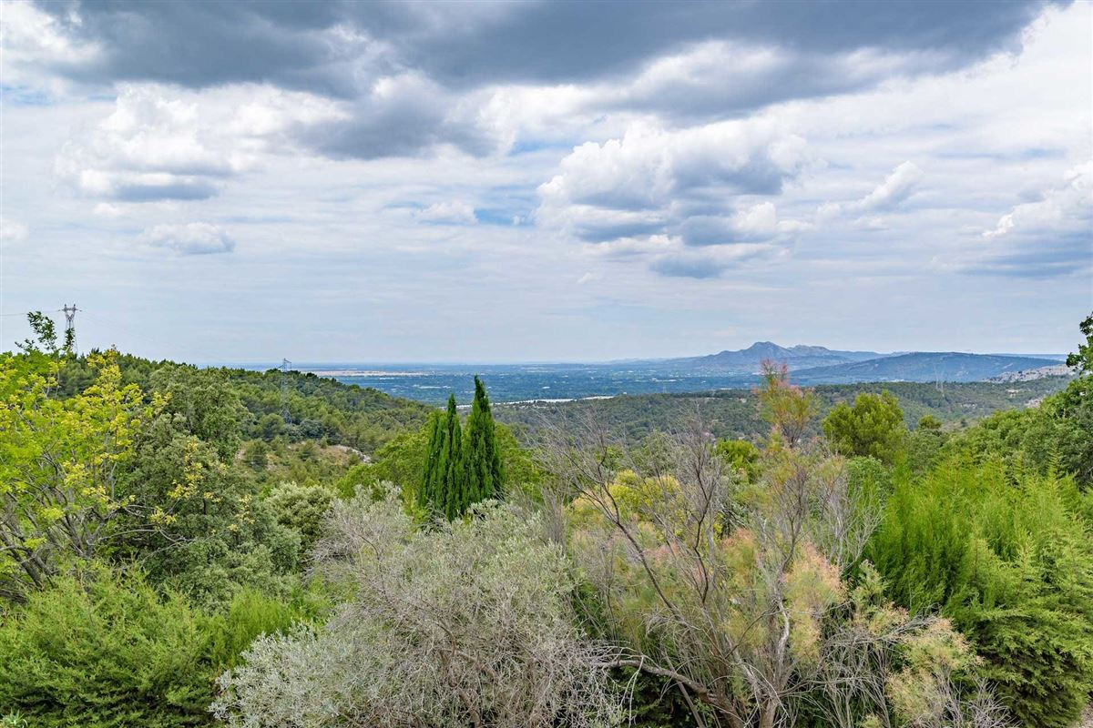 peaceful period property with open Alpilles mountain range views mansions