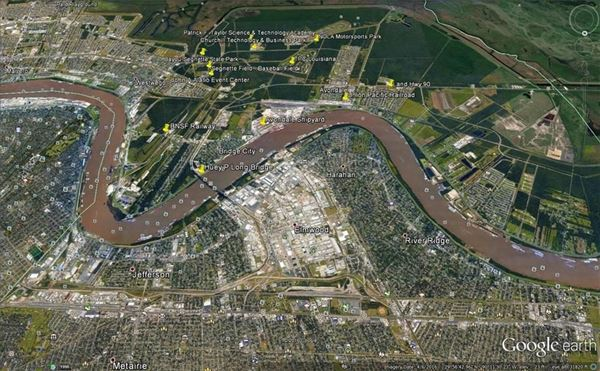 Approximately 12 acres in proximity to Huey P Long Bridge and Mississippi River luxury homes