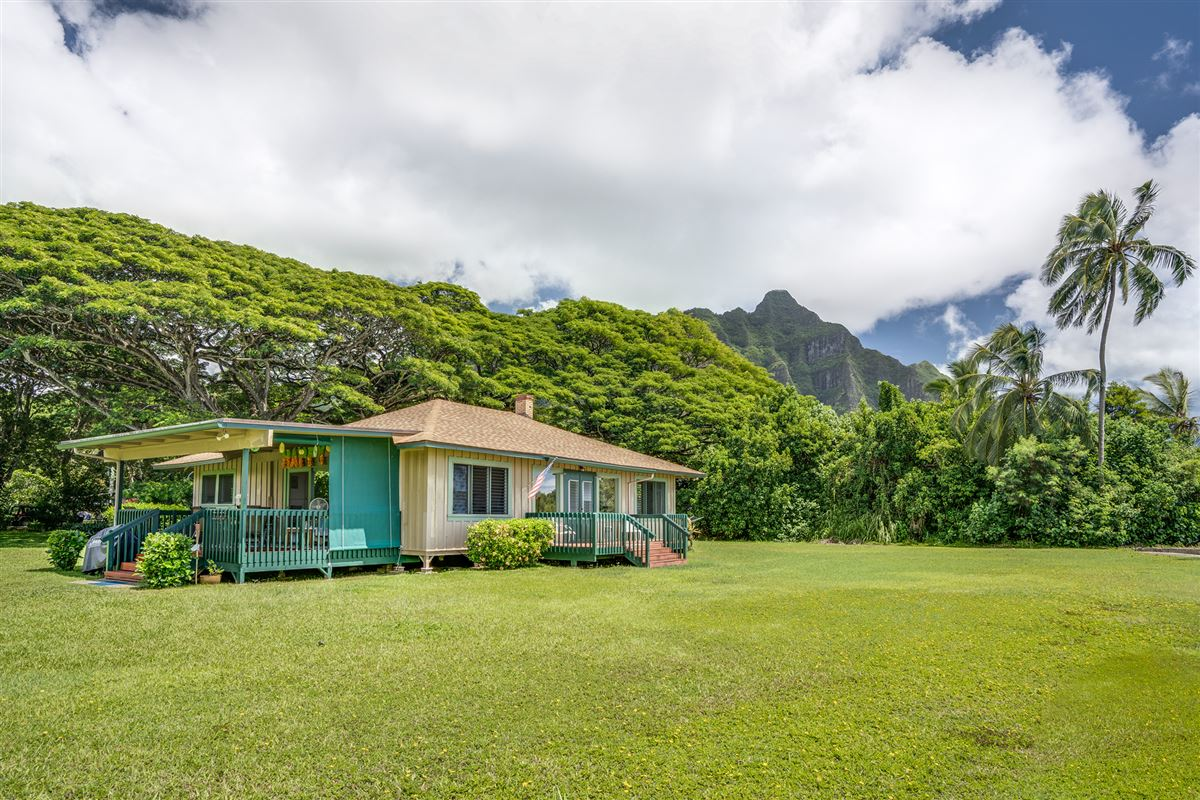 oceanfront property reminiscent of Old Hawaii  mansions