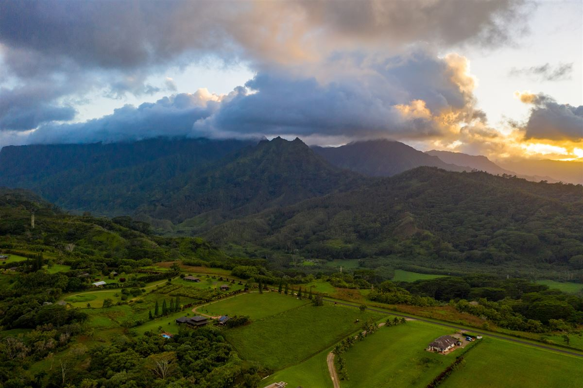 Luxury homes in five Acres on Lush Island of Kauai