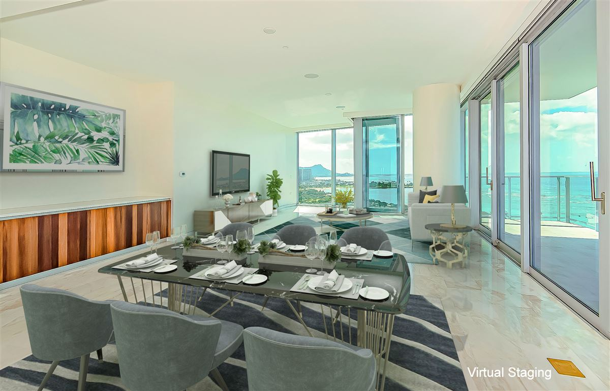 ocean view honolulu luxury condo - Waiea luxury homes