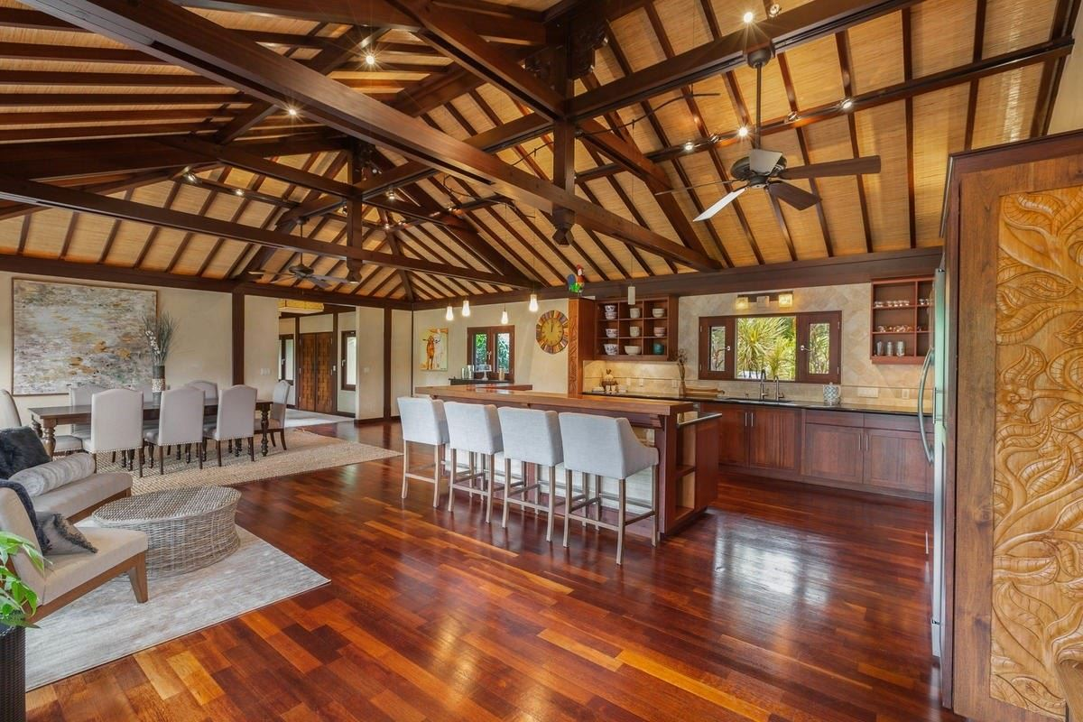 Luxury properties exquisite Bali style home on seven acres