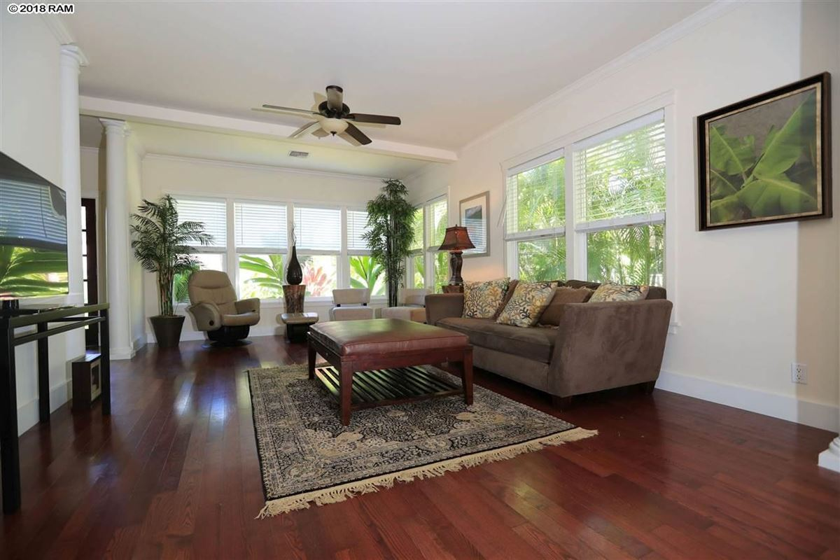 Luxury homes in inviting home in gated Kahana Wai