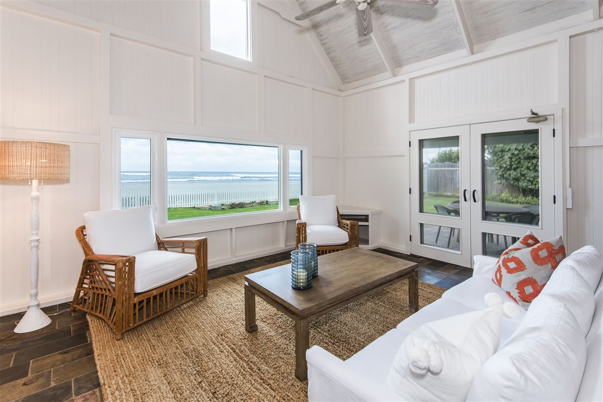 Luxury homes in Move-in ready north shore beachfront home