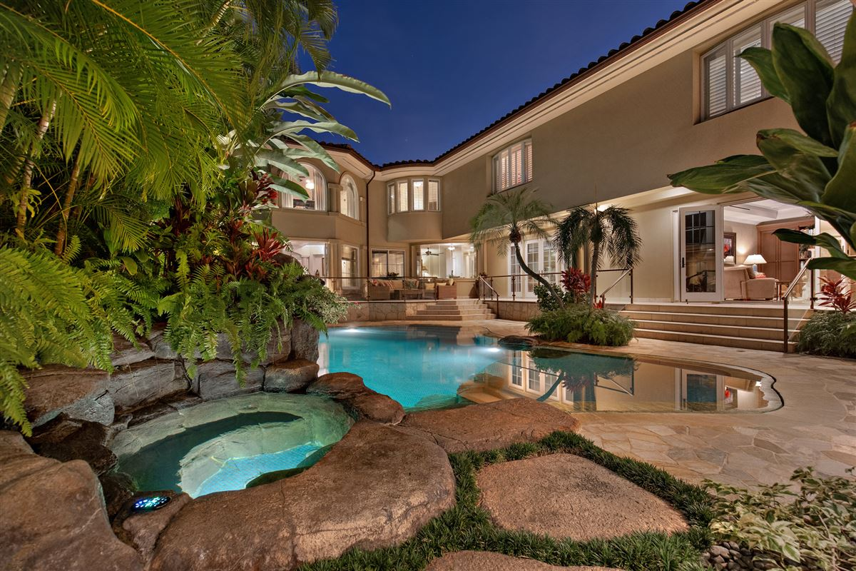 Luxury homes ocean view kahala avenue home steps to beach and kahala resort