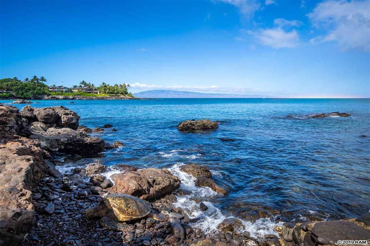 private portion of West Maui's Kahana coastline  luxury homes