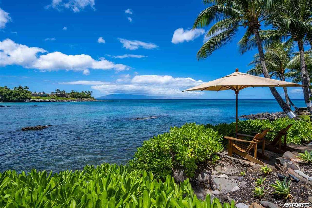 Luxury properties private portion of West Maui's Kahana coastline