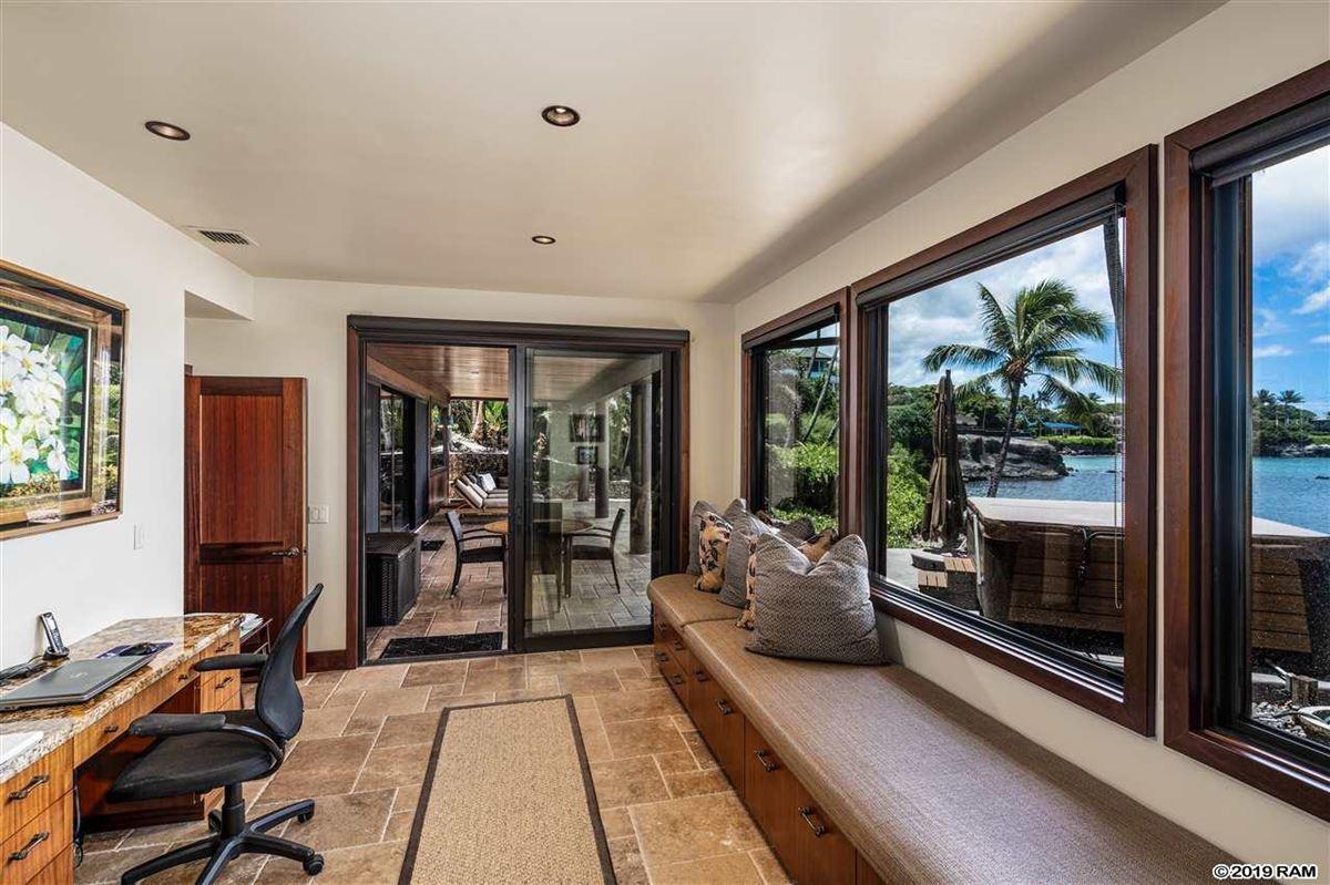 private portion of West Maui's Kahana coastline  mansions