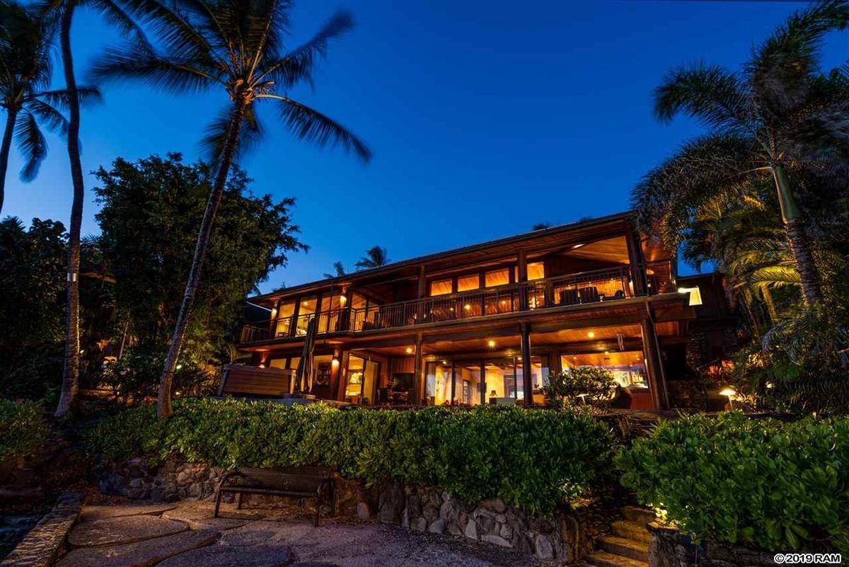 private portion of West Maui's Kahana coastline  luxury properties