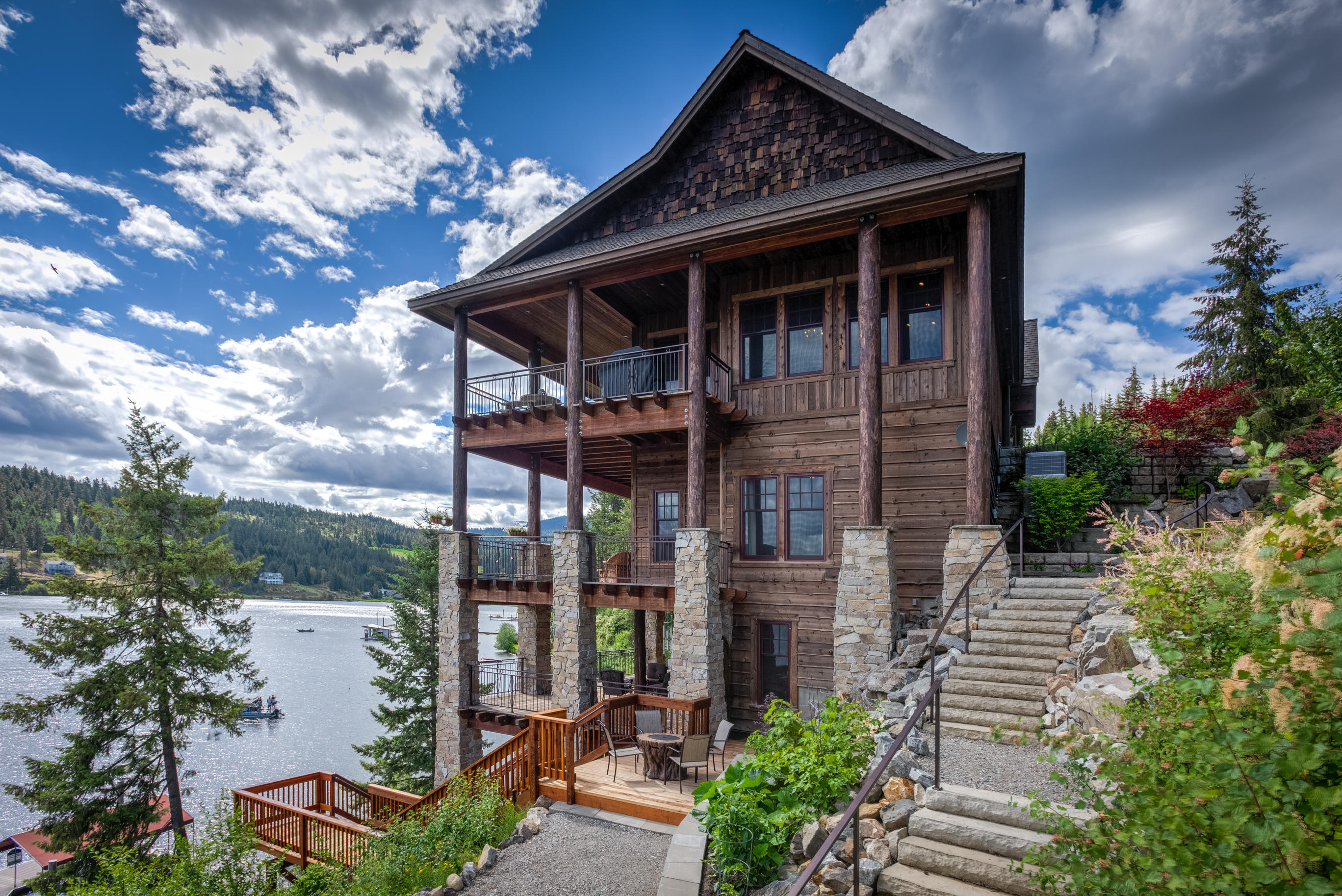 exquisite custom home on the lake