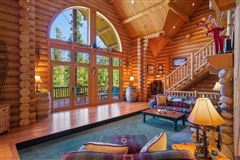 Mansions in Spectacular and elegant log home lodge