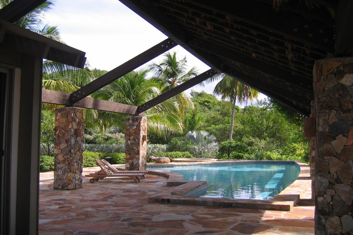 Enchanting villa in little trunk bay luxury homes