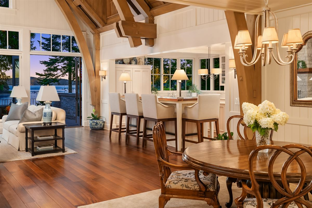 magnificent custom home on Port Madison luxury real estate