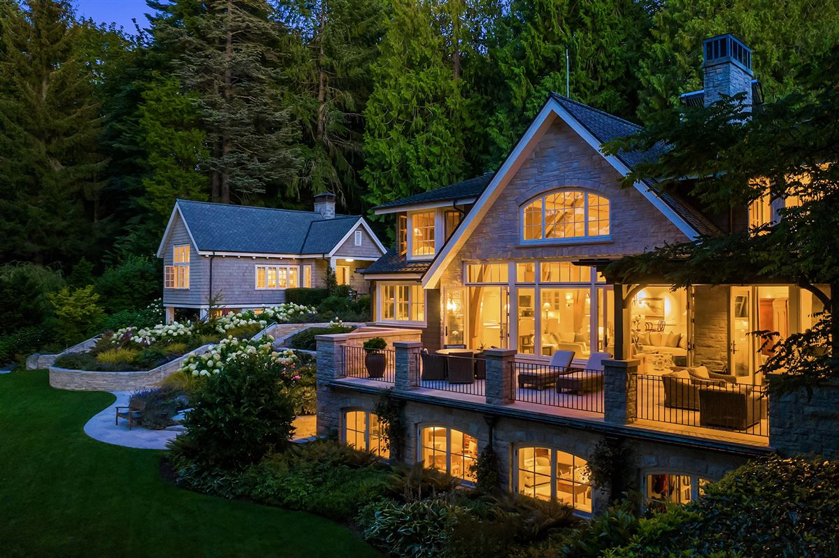 Mansions in magnificent custom home on Port Madison