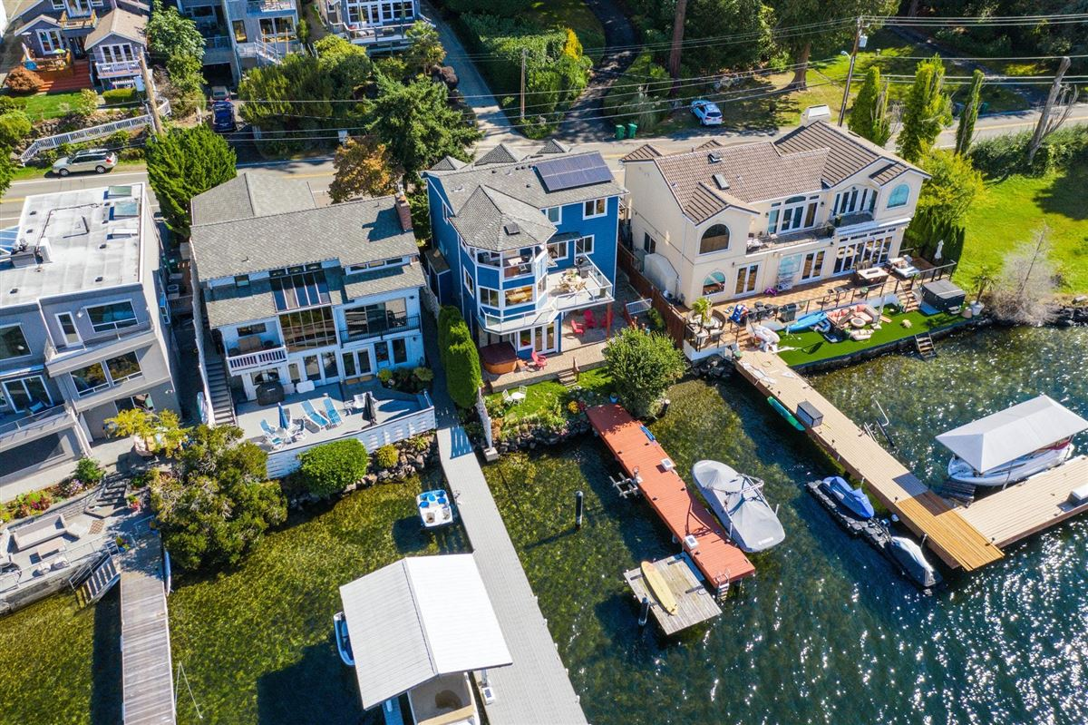 Storybook sunny west-facing waterfront luxury real estate