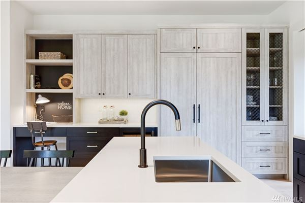 Newly completed modern farmhouse in the heart of Mercer Island luxury homes