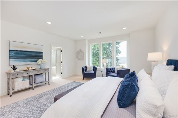 Newly completed modern farmhouse in the heart of Mercer Island luxury real estate