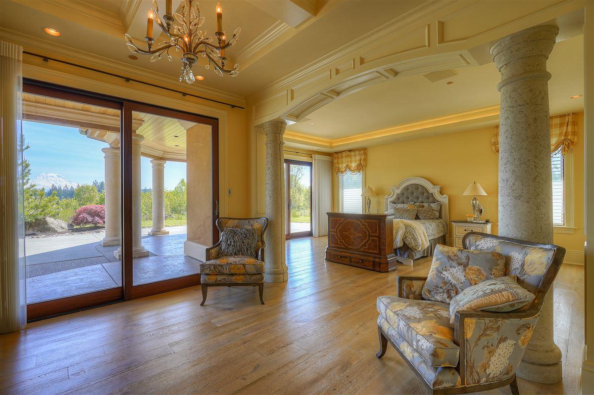 Luxury real estate stunning views of Majestic Mt. Rainier