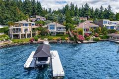 Luxury real estate waterfront Near the end of quiet Champagne Point