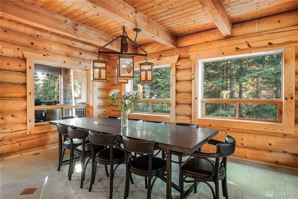 Luxury real estate private mountain retreat with panoramic views
