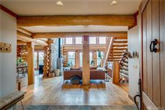 Mansions in inspiring four bedroom log home