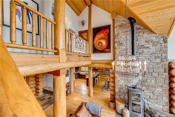 inspiring four bedroom log home mansions