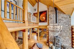 Luxury properties inspiring four bedroom log home