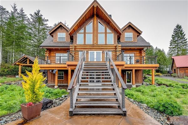 Luxury real estate inspiring four bedroom log home