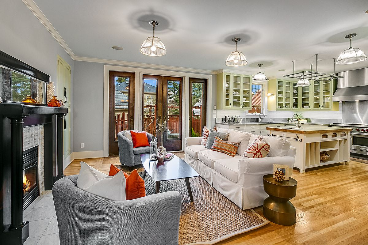 Luxury real estate gracious 1910 Craftsman remodeled to perfection