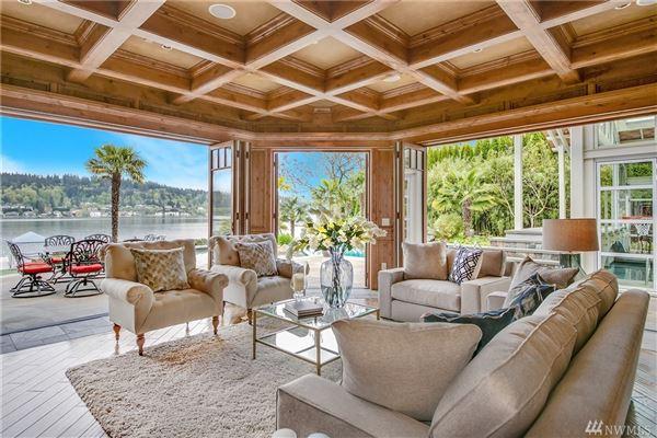 Luxury properties iconic Lake Sammamish estate