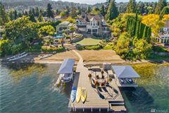 Luxury real estate iconic Lake Sammamish estate