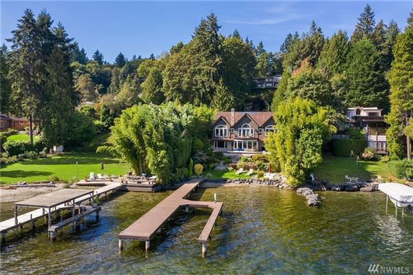 Dramatic waterfront estate luxury real estate