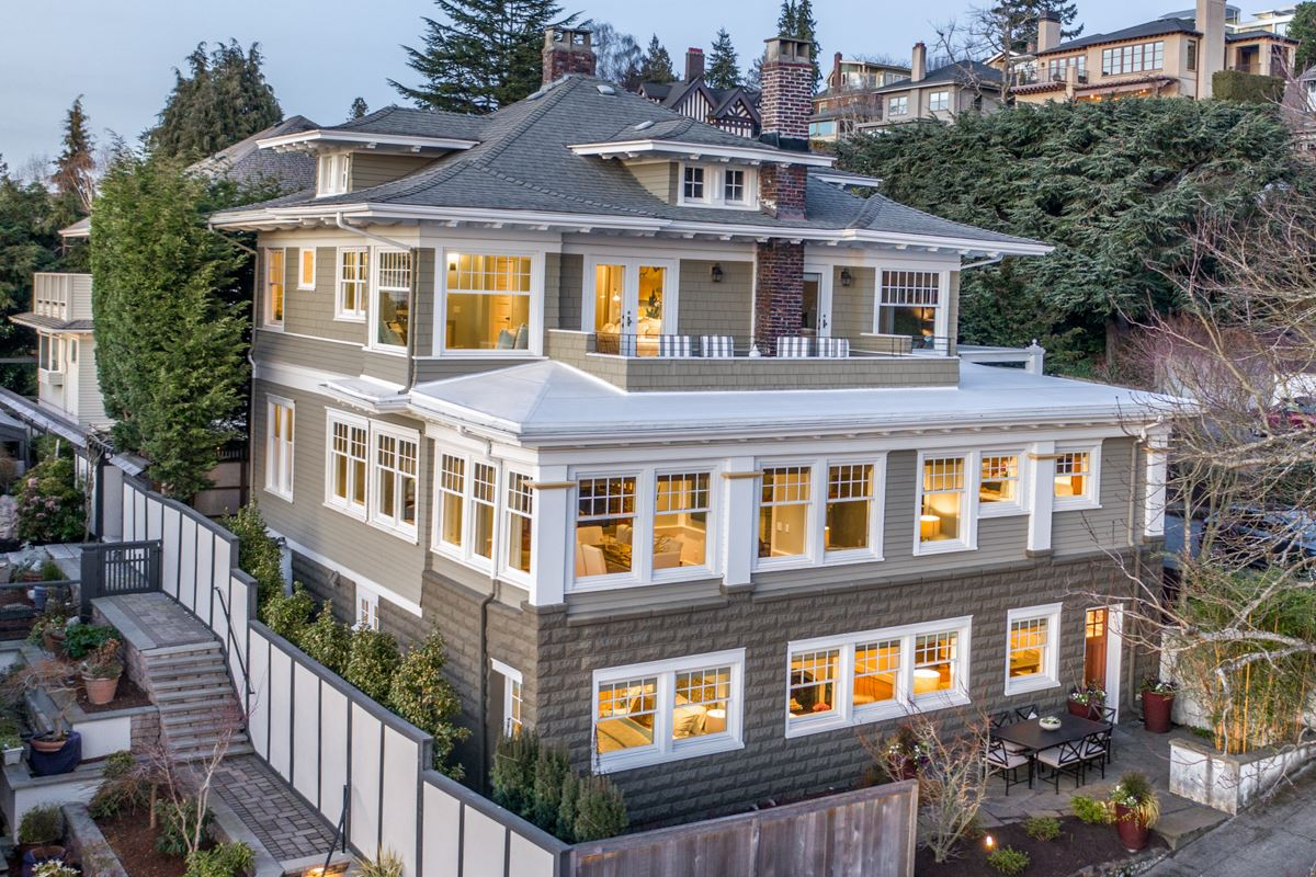 Mansions stately Queen Anne craftsman home
