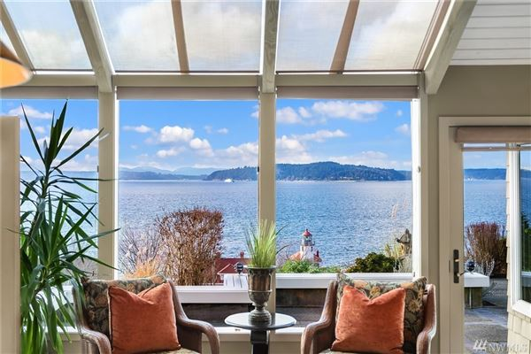 Luxury real estate quintessential Northwest home on coveted Alki Point