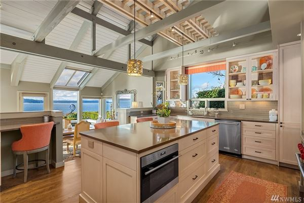 Luxury properties quintessential Northwest home on coveted Alki Point