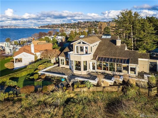 quintessential Northwest home on coveted Alki Point luxury properties