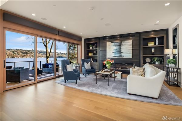 Timeless and Refined low bank waterfront home luxury properties