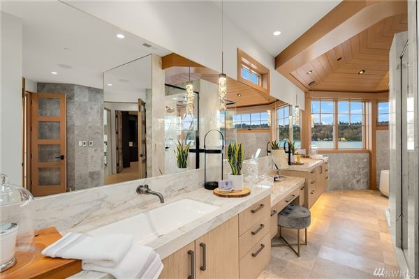 Mansions Timeless and Refined low bank waterfront home