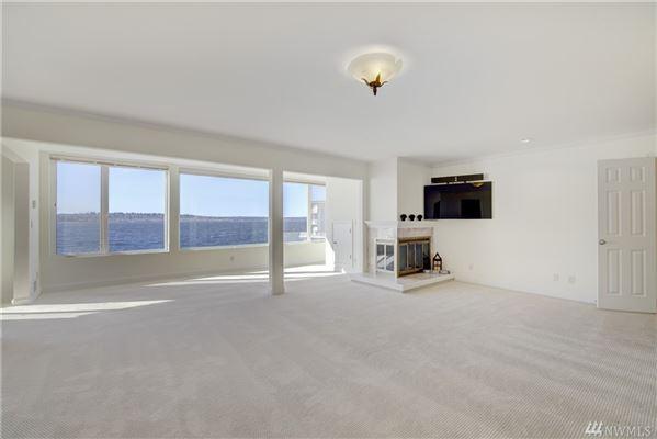 Luxury properties waterfront home with breathtaking views of lake washington