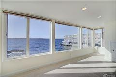 Luxury real estate waterfront home with breathtaking views of lake washington