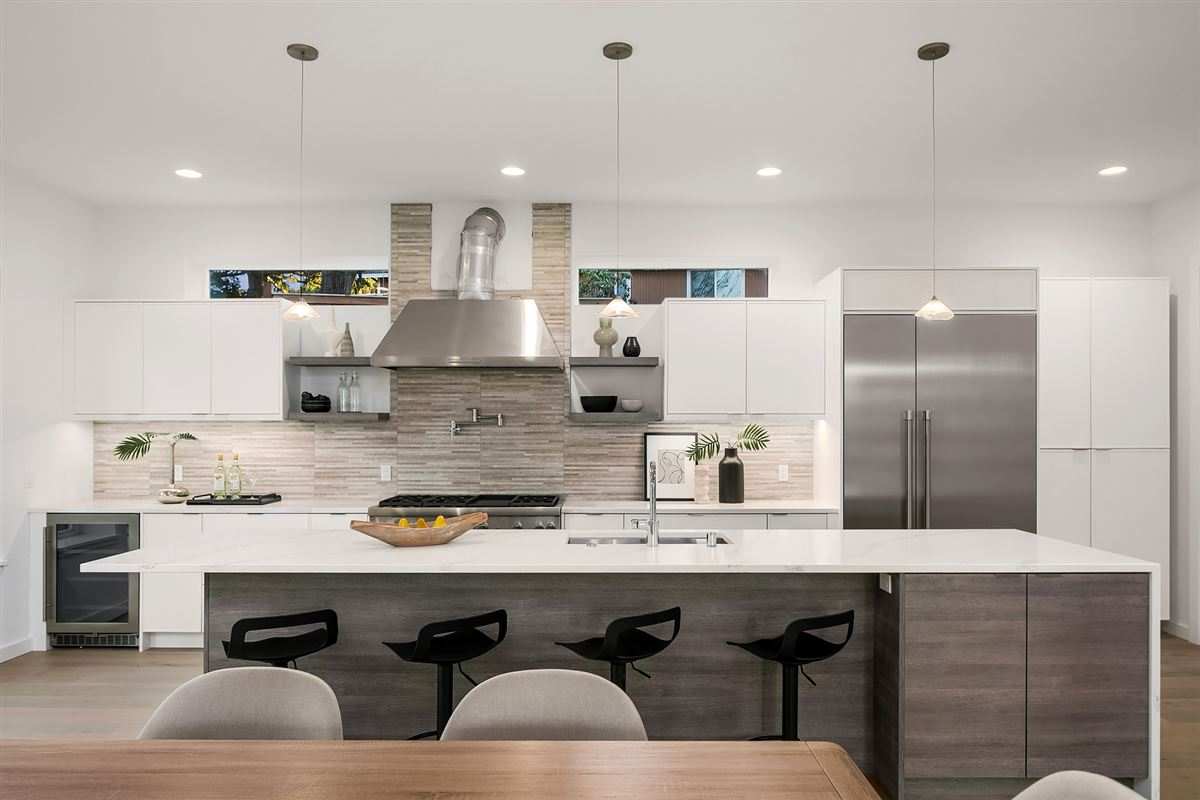 inviting and light-filled, newly built home luxury homes