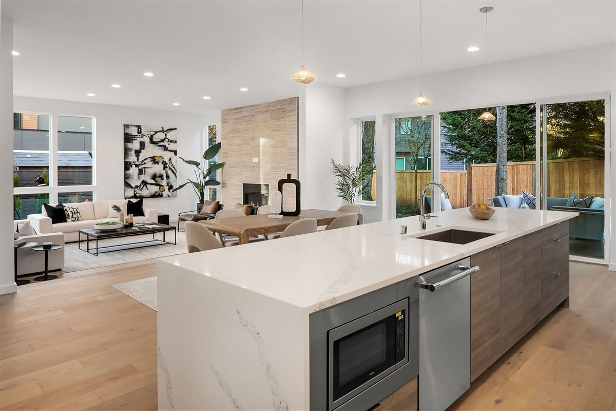 inviting and light-filled, newly built home luxury real estate
