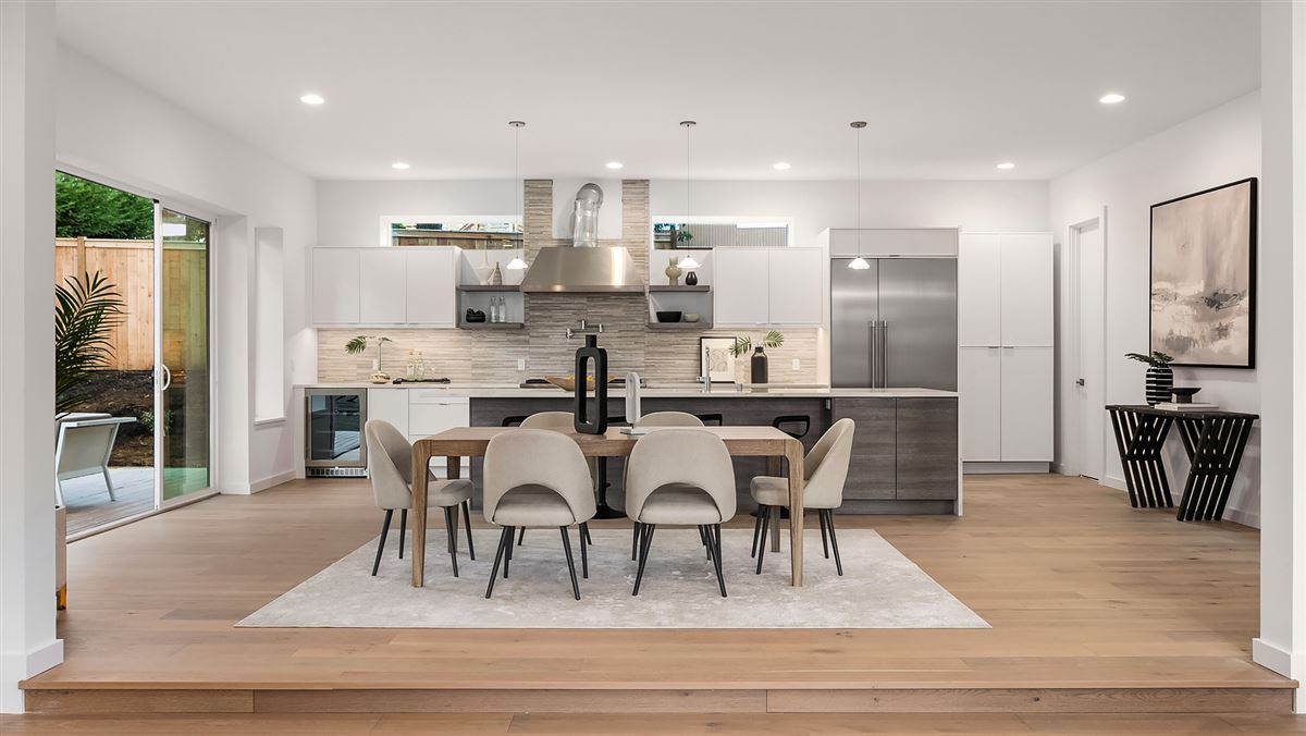 Luxury properties  inviting and light-filled, newly built home